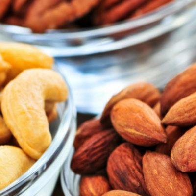Nuts cashews almonds pine nuts
