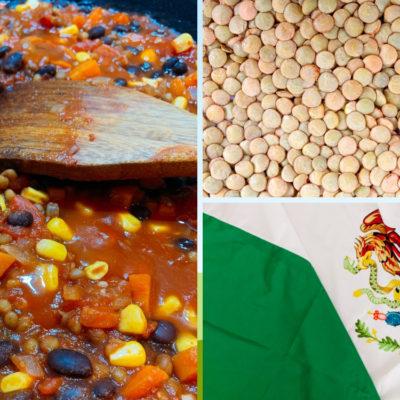 Lentil and Black Bean Mexican